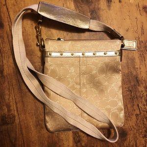 Gold Coach Crossbody Bag